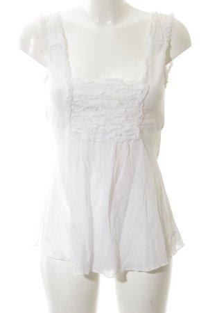 Chilli & Pepper Sleeveless Blouse white elegant