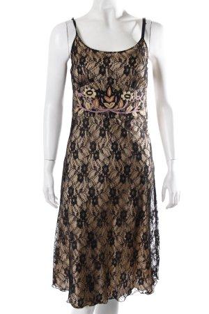 Chilli Pepper lace dress black and beige