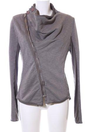Chilli Sweat Jacket light grey flecked casual look