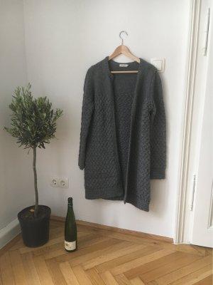 Knitted Coat dark grey