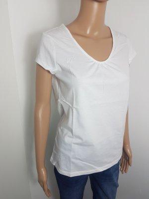 Chillytime Damen Basic Shirt T-Shirt kurzarm weiß Größe 36 ungetragen
