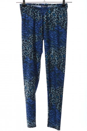 Chillytime Leggings blue allover print extravagant style