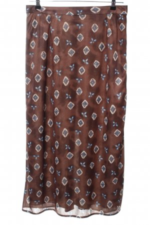 Chillytime Maxi Skirt brown-natural white abstract pattern casual look