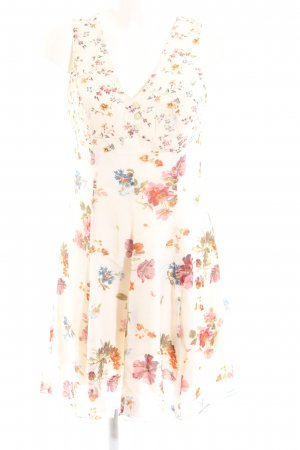 Chillytime Mini Dress cream flower pattern casual look