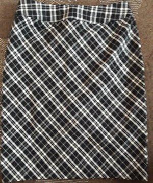 Falda de tubo blanco-negro