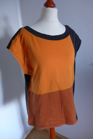 Chillytime Shirt Top Oberteil schwarz orange G. 42