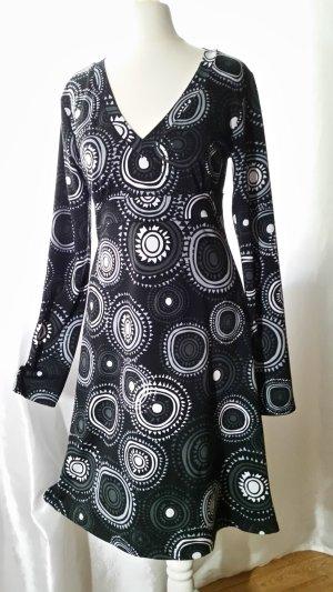 Chillytime Sommerkleid langarm gemustert Gr XS-S neuwertig