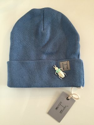 Beanie cornflower blue cotton