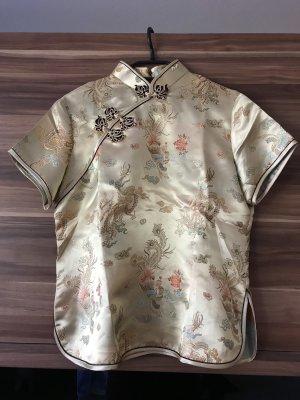 Kimono blouse goud