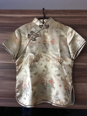 Chemisier kimono doré