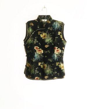Vintage Mouwloze blouse veelkleurig