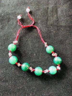 Chinesisches Armband mit echten Jade-Perlen