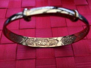 Friendship Bracelet gold-colored metal