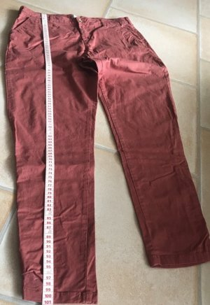 Chino Hose Gr. 40 Chinohose Clockhouse rostrot ziegelrot rot