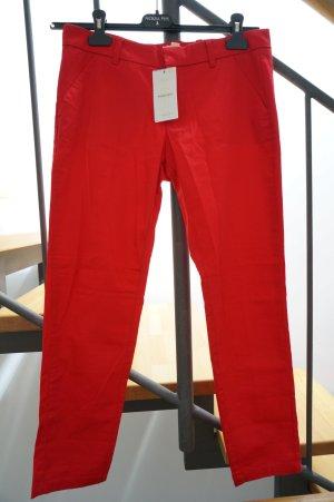 Mango Basics 7/8 Length Trousers red cotton