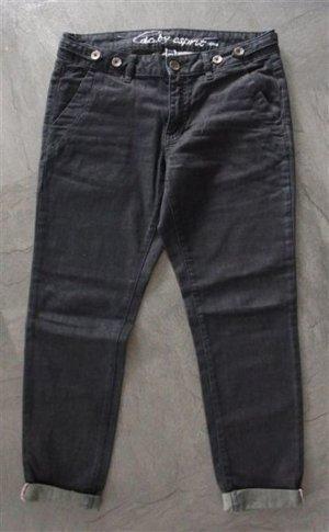 Chino Jeans Boyfriend Grauschwarz 27/30 Short