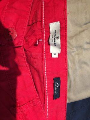 Tom Tailor Pantalon chinos rouge