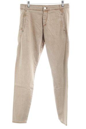 Pantalon chinos marron clair-beige style décontracté