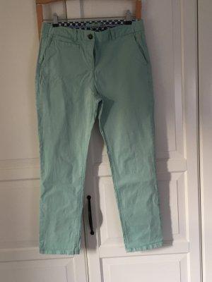 Boden Pantalon 7/8 turquoise coton