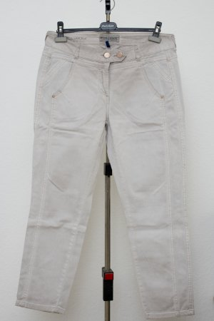 Cecil Boyfriend Trousers light grey-oatmeal cotton