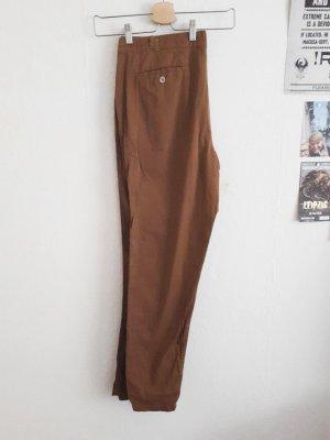Chinohose von Zara in Braun