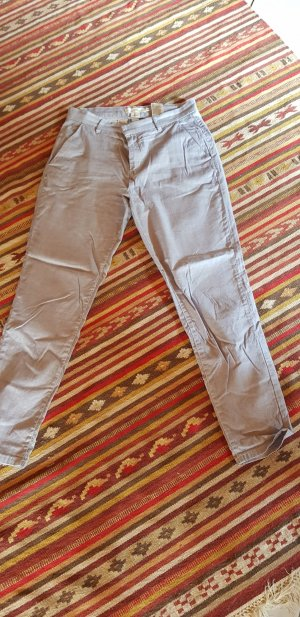 H&M Chinos white-blue mixture fibre