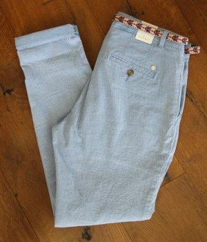 Esprit Chinos white-azure cotton