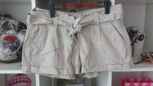 Chinoshorts Shorts kurze Hose braun beige elegant