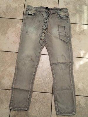 Baggy Jeans light grey cotton