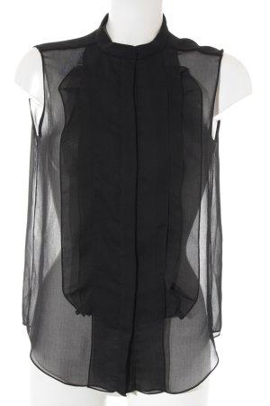 Chloé ärmellose Bluse schwarz Elegant