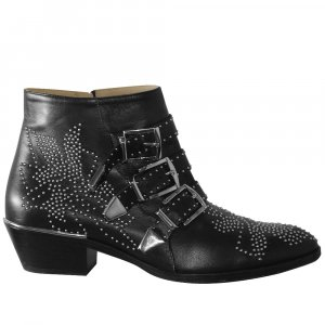 Chloe Ankle Boots aus Leder, Gr. 37,5