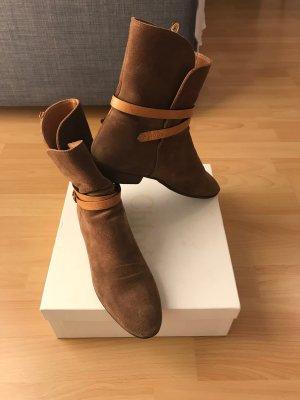 Chloé Botas estilo militar marrón claro-camel