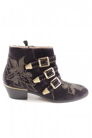 "Chloé Ankle Boots ""Susanna Boots Leather Charcoal Black"""