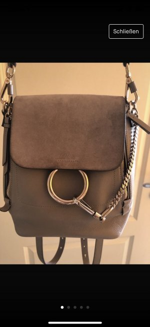 Chloé Backpack in motty grey