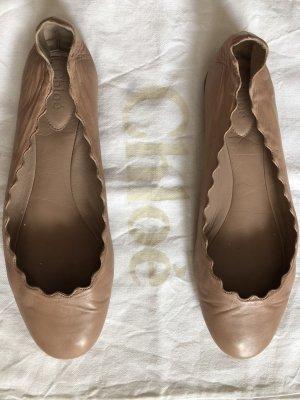Chloé Bailarinas plegables nude