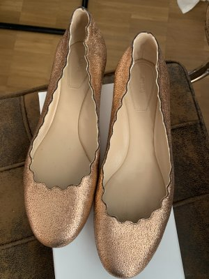 Chloé Ballerines Mary Jane or rose