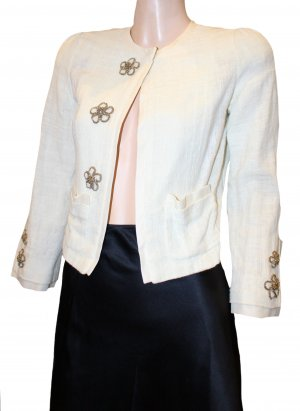 Chloé Short Blazer natural white silk
