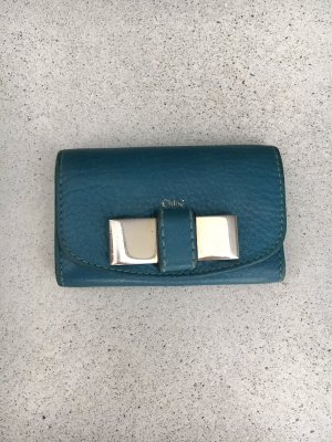 Chloé Key Chain cadet blue-petrol leather
