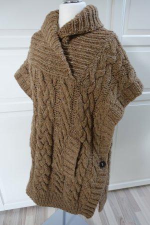 CHLOE Cape, Jacke, Pullover mittelbraun gestrickt, Unigröße