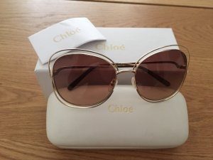 Chloé Sunglasses brown-gold-colored metal