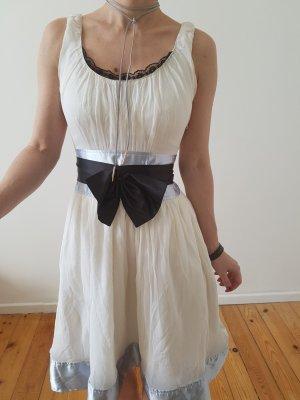 CHLOE Cocktailkleid Mini Kleid XS 32 34 weiß Seide Abendkleid Hochzeitskleid