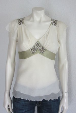 CHLOÉ DAMEN TOP GR. 32 CREME