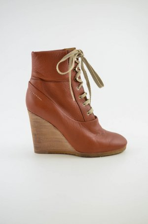 Chloé Booties cognac-coloured leather