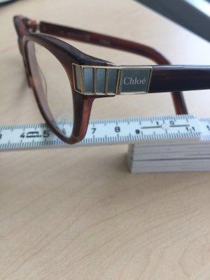 Chloé Designer Brille Havanna mit besonderen Bügeln