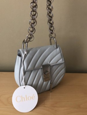 Chloé Mini Bag silver-colored-azure leather
