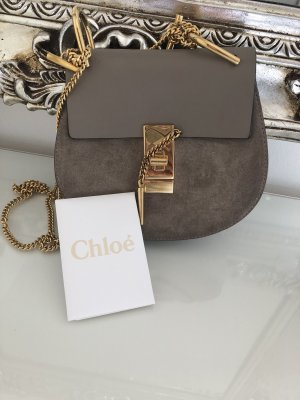 Chloe drew saddle bag mini motty grey