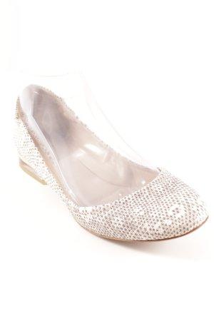 Chloé faltbare Ballerinas wollweiß-grau Fischgrätmuster Casual-Look
