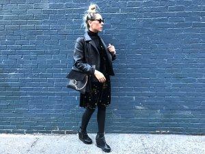 Chloé Faye Bag glatt/velour Leder in groß