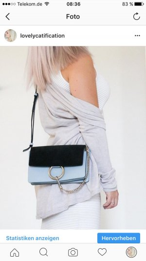 Chloe Faye bag in hellblau/schwarz