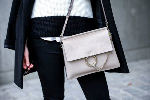 "Chloé Faye Bag in ""Motty Grey"""